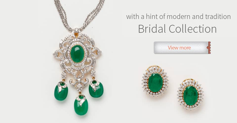 Emerald diamond Set